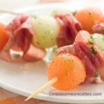 brochettes melon jambon de parme