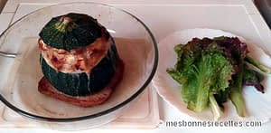Courgettes farcies à la chaire à saucisses