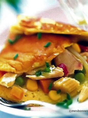 Omelette aux légumes et au thon