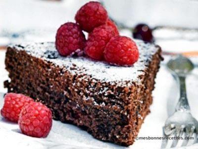 Gâteau chocolat framboise cuit à la poêle