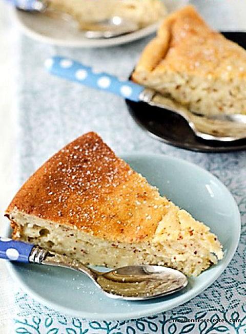 Gâteau moelleux amandes et ricotta
