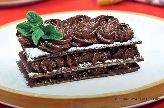 millefeuille au chocolat bio