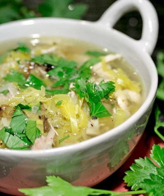 soupe Écossaise poireaux poulet