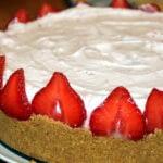 Tarte à la mousse de fraise