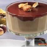 Entremet de châtaignes et sauce au chocolat