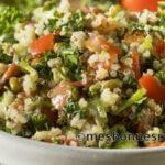 Salade boulgour, pois chiches et légumes